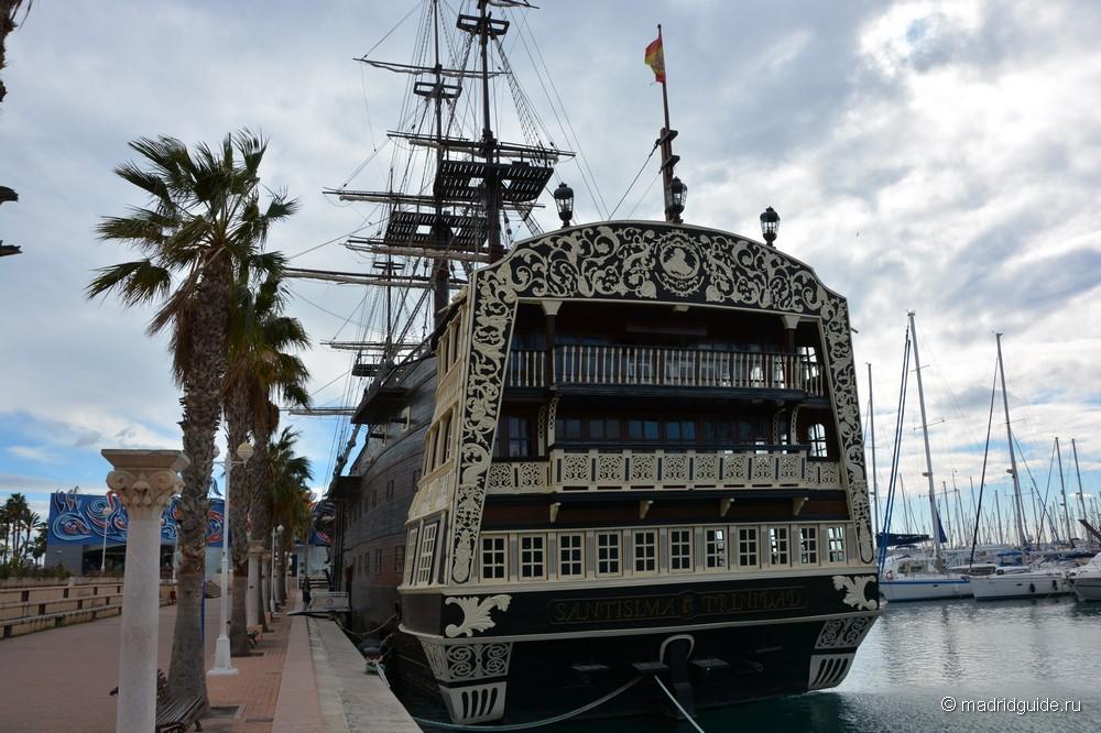 Копия испанского корабля Святейшая Троица