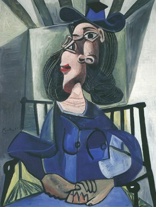 Пикассо, Женщина в шляпе, сидящая в кресле