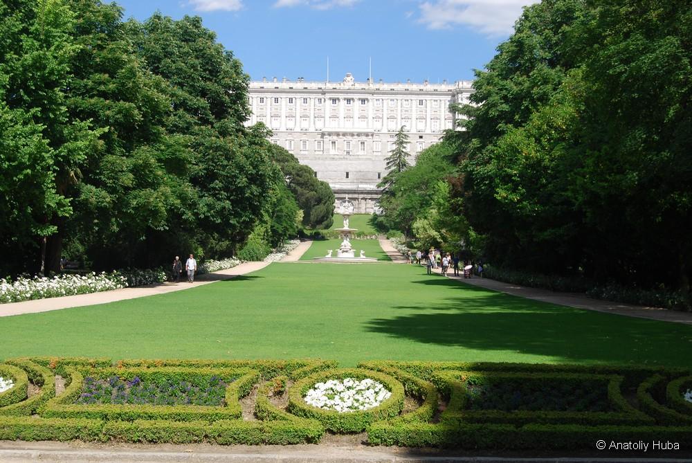 Королевский дворец в Мадриде, сады Кампо-дель-Моро