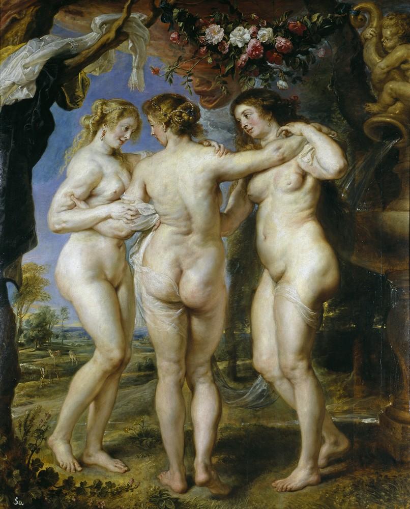 Экскурсия в Музей Прадо, Рубенс, Три грации