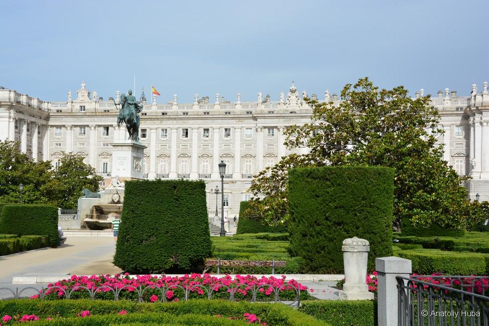 Королевский дворец в Мадриде, восточный фасад