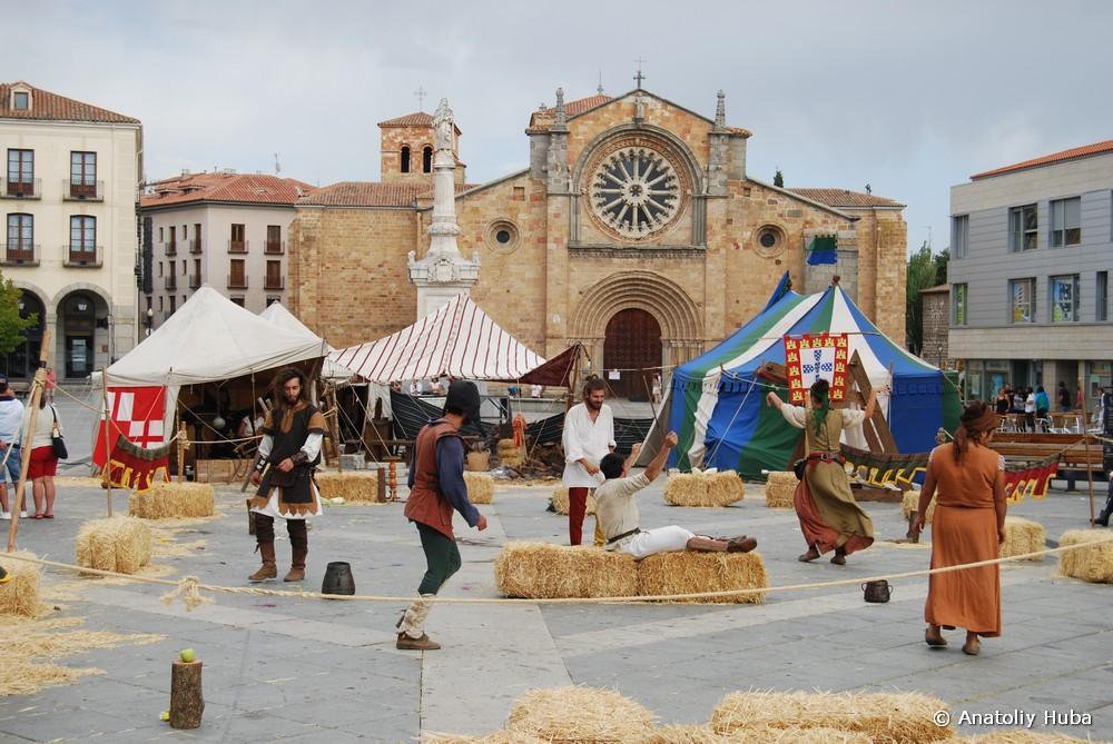 Средневековый праздник в Авиле, Plaza del Mercado Grande, площадь Большого Рынка
