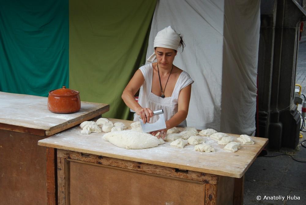 процесс выпечки хлеба