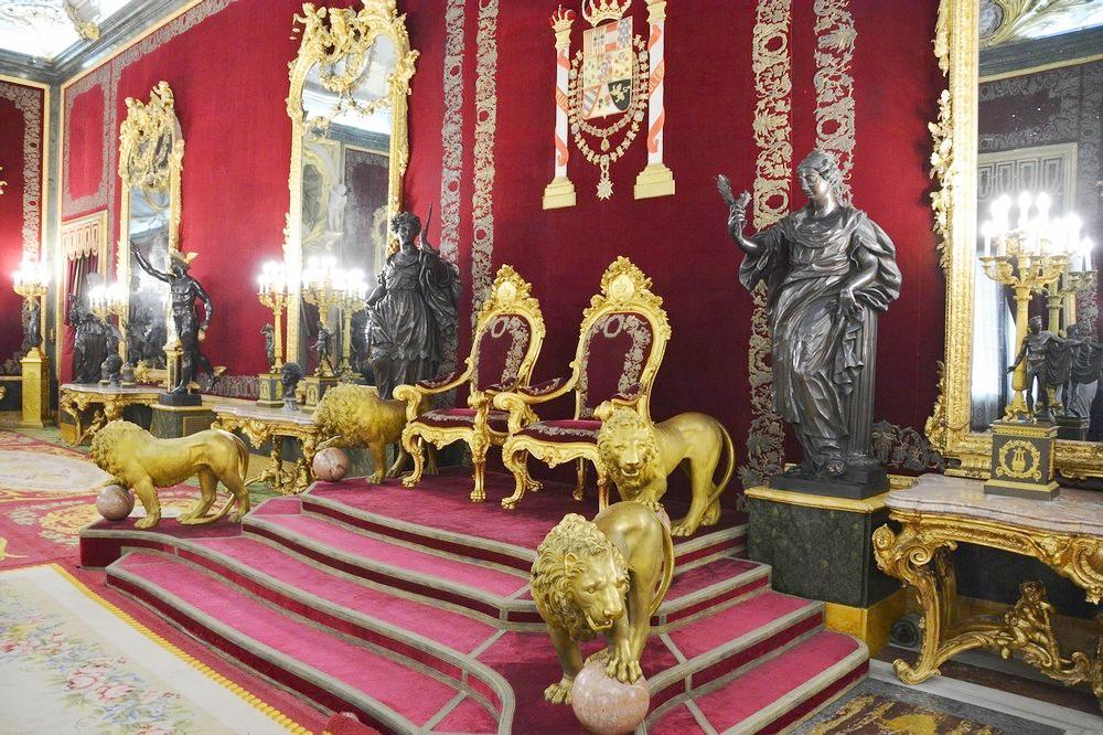 Королевский дворец в Мадриде, Тронный зал